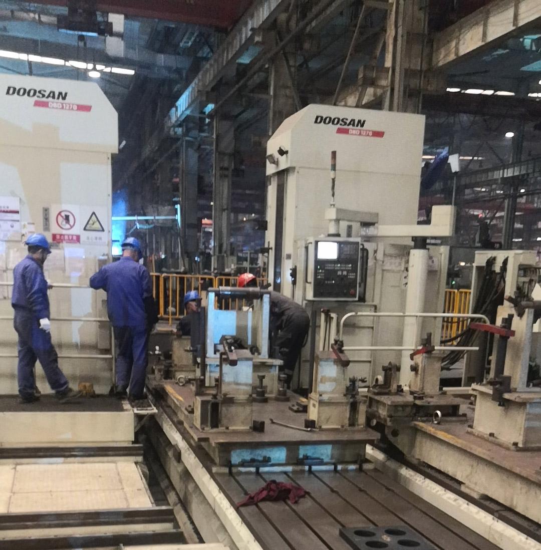 雷沃重工机械加工中心精度检测